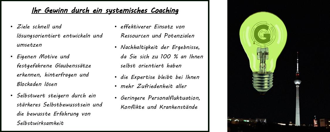 systemisches Coaching Vorteile Guttau